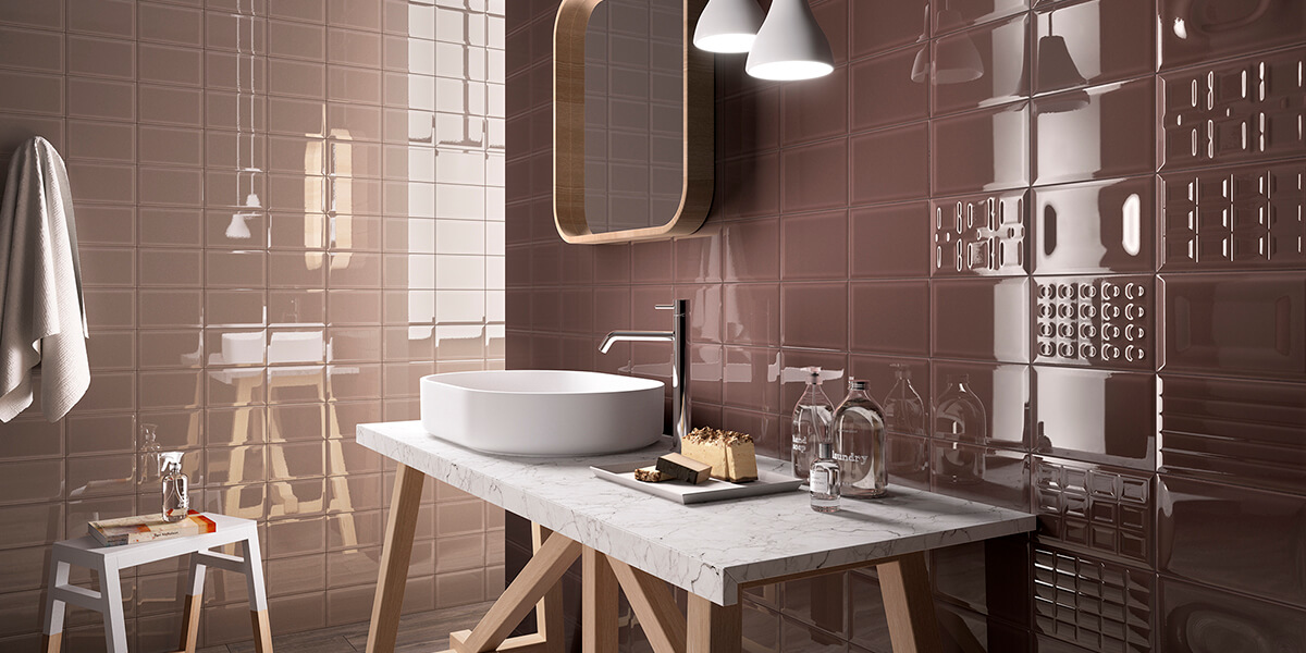 Cento Per Cento Glazed Ceramic Wall Tile Brown | Kate-Lo Tile & stone Imola