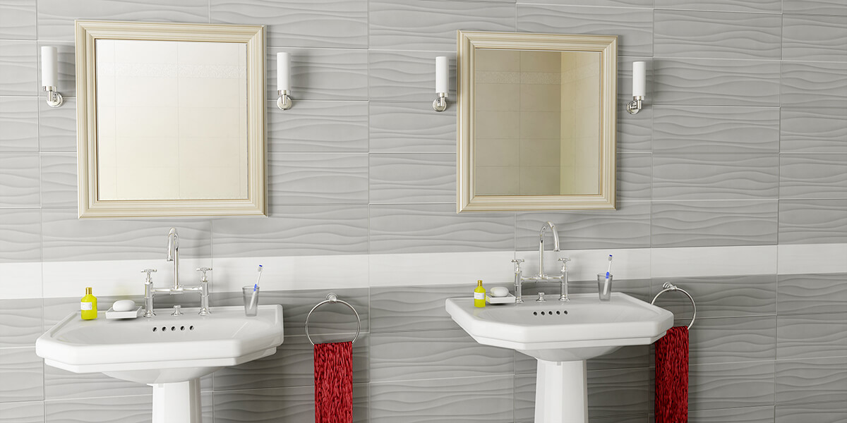 Laguna Glazed Wall Tile 8x24 Wave White | Olympia Tile & Stone