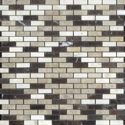 Small Brick Polished Mosaic Blend