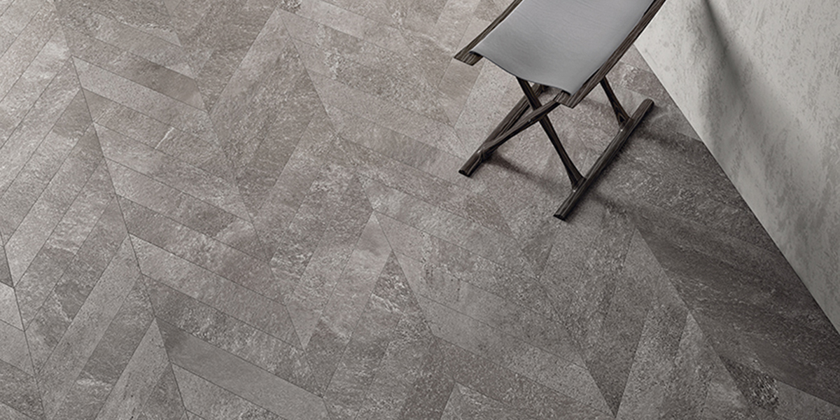 Shadestone Color Base Porcelain Tile Chevron | Sant Agostino Olympia