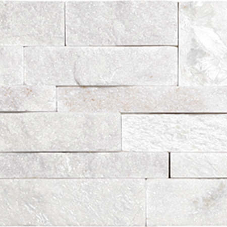 White Interlocking Quartzite Split Faced Ledgerstone | Olympia Tile