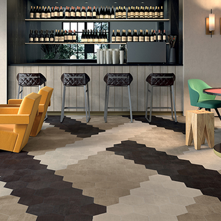 Textile (Merino) Porcelain Floor Tile | by Kate-Lo Tile and Stone.