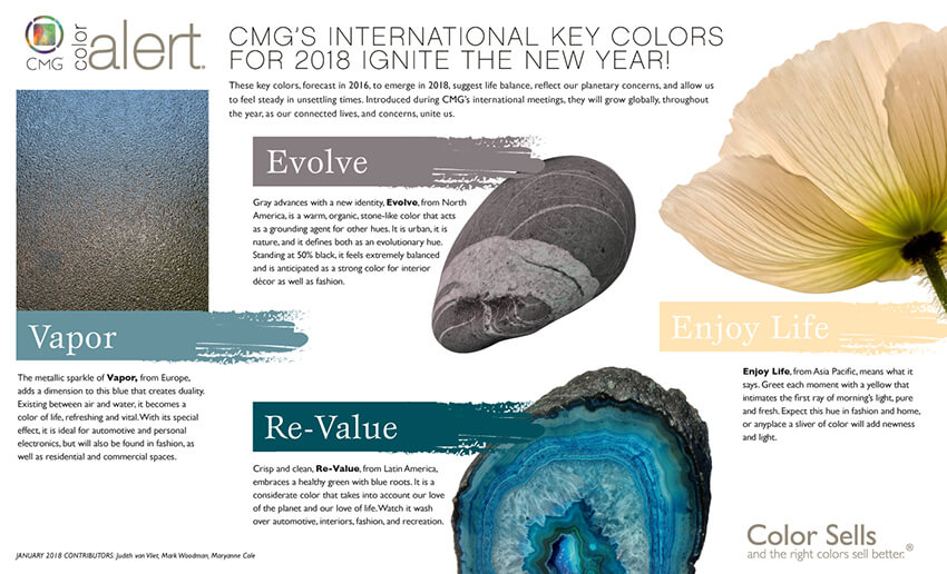Color Marketing Group announces key colors for 2018