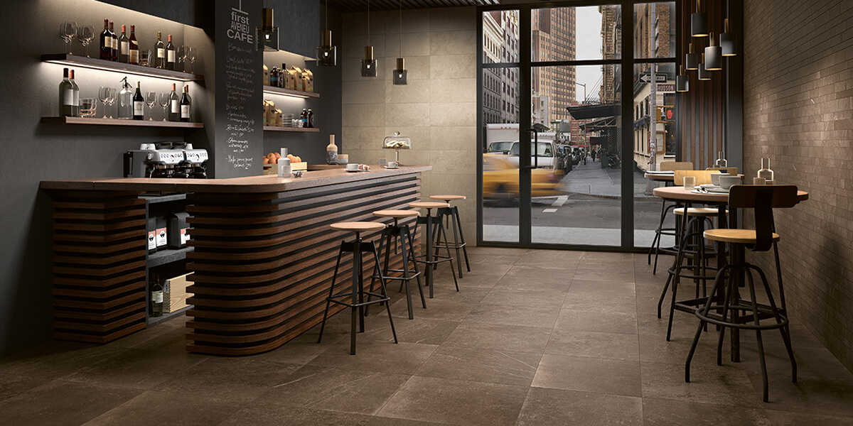 connect glazed porcelain tile forth floor wall | panaria