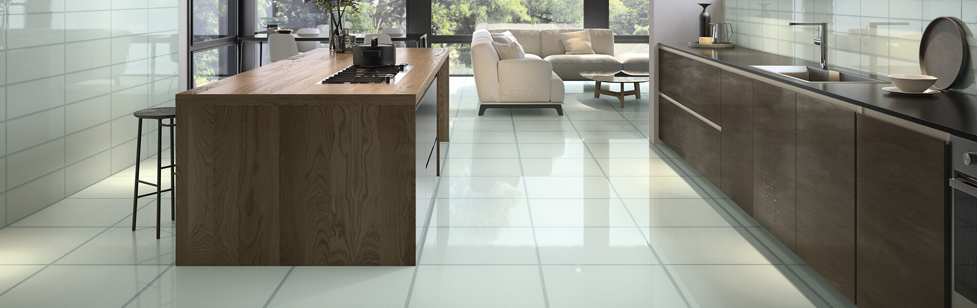 vetri refin porcelain glass look tile