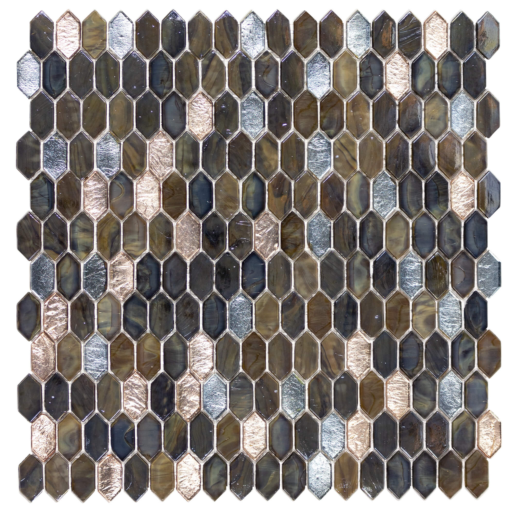 Anthology Royal Gems Glass Mosaic Blend Regal Tigers Eye | Kate-Lo Tile & Stone